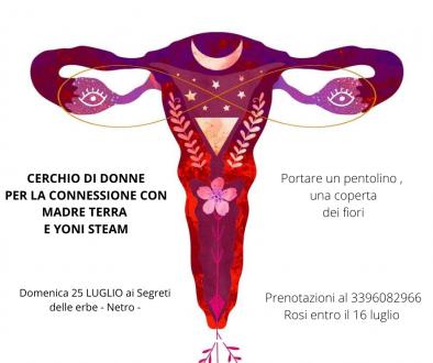 cerchio di donne per la connessione con madre terra e lo yoni steam